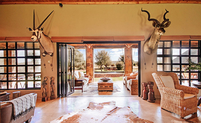 Luxury accommodation at Aru Hunting Safaris