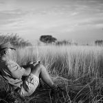 Hunter under African Tree